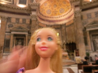 Barbie at the Pantheon, Rome