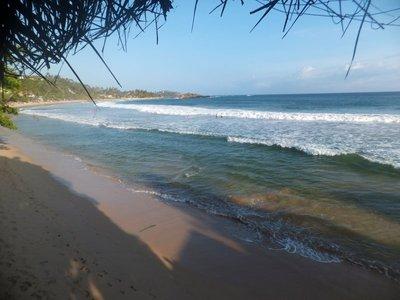 Beach hut view mirissa