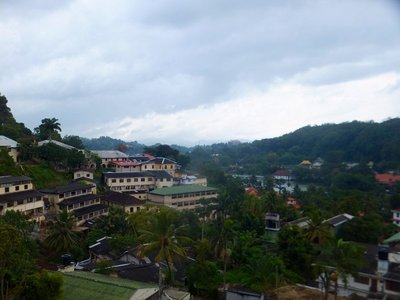 View of Kandy town and lake