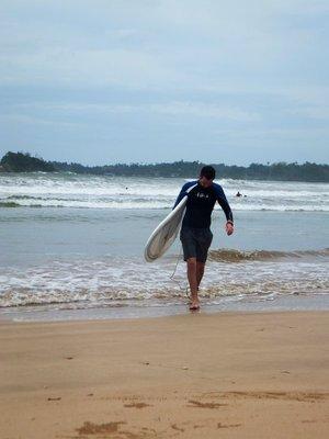 Liam's surf lesson mirissa