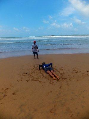 Chelsea's surf lesson mirissa