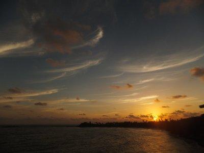 Sunset over Unawatuna Bay