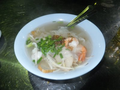 Street food in Krabi Thailand- Seafood Noodle Soup