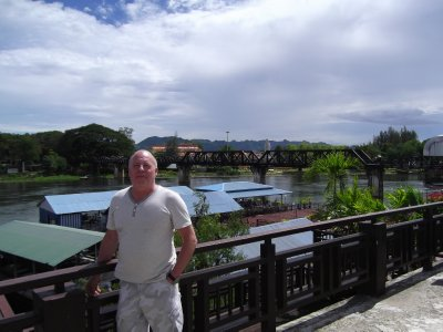 Liam's Dad at the Birge over the River Kwai