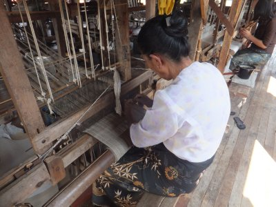 cloth workshop Inle Lake, myanmar