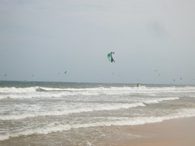 Mui ne beach windsurfers