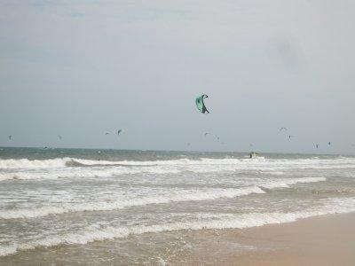 Mui ne beach windsurfers