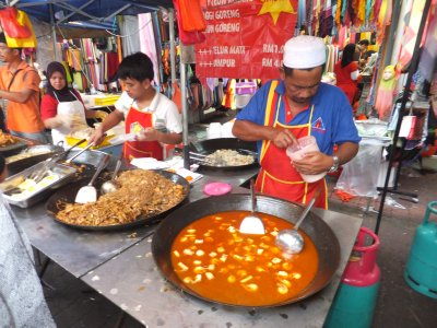 One of Many Food Stalls, Little India Night Market, KL