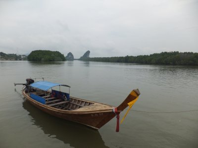 Thai Longboat on Krabi River