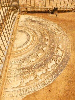 Anuradhapura ancient city moon stone