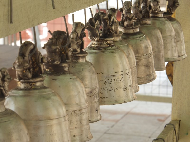 Bells at Shwedagon Paya Yangon