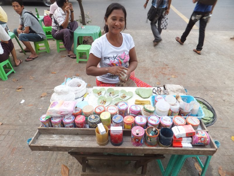 Betel Leaves stall Yangon