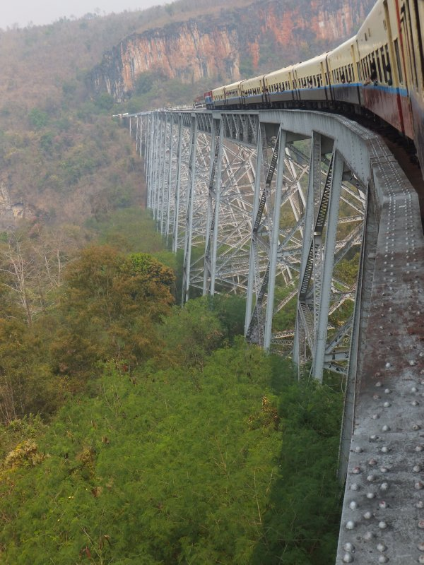Going over Goteik Viaduct
