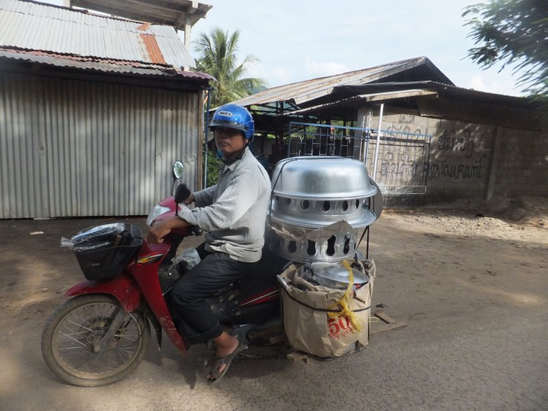 Luang Prabang.... how much can you strap to a bike?