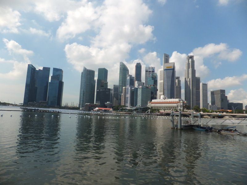 Skyline at Singapore Marina
