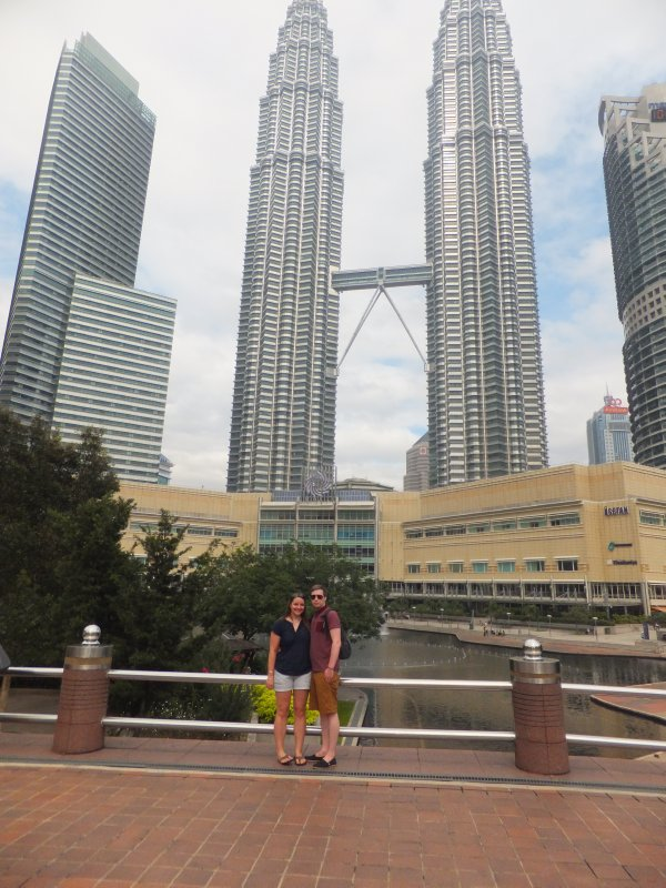 Us Infront of Petronas Towers