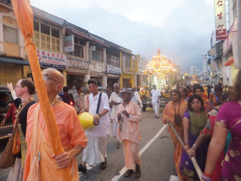 Hari Krishna parade in Little India Penang