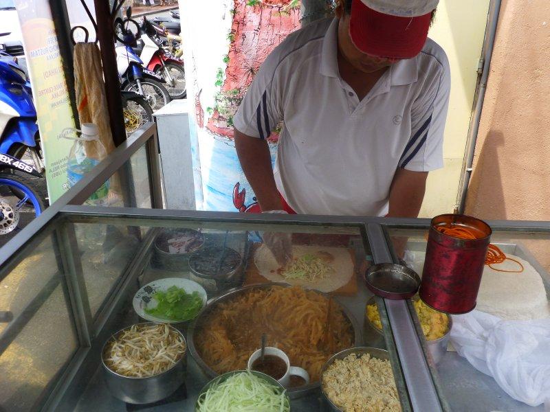 Street Vendor Making Pohpoiah