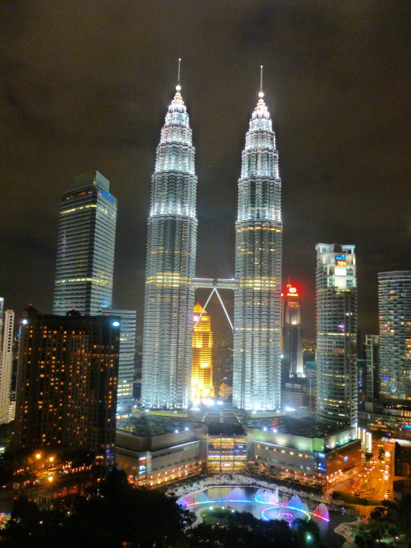 Our View from Skybar, Traders Hotel, KL