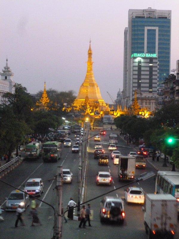Yangon city Sule Paya