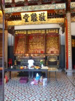 Ancestral Worship in Teowchew Temple, George Town