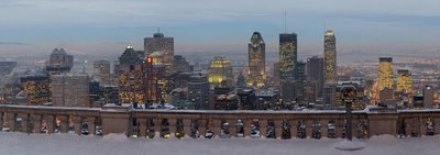 A view of Montreal from the Mount Royal lookout