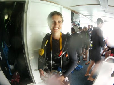 "My dive ""buddy"" Gwen"