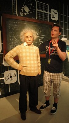 Albert Einstein and assistant