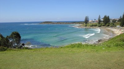 One of the beaches in Yamba