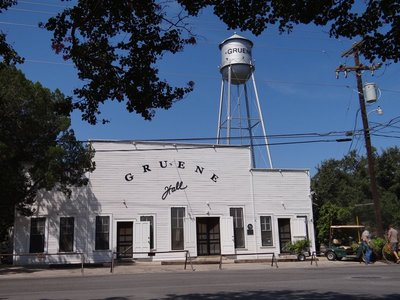 Gruene Hall and the Water Tower