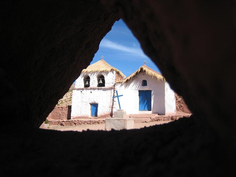 Church at Machuca village in Atacama desert