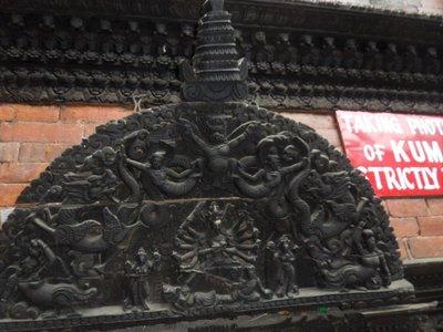 Wood carving at Kumari Home Kathmandu