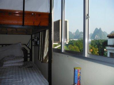 Bedroom at the Showbiz Inn