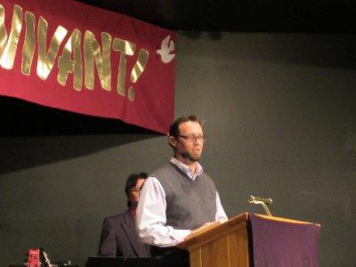 Scott Preached on Sunday