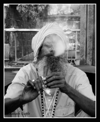 Sadhu Smoking