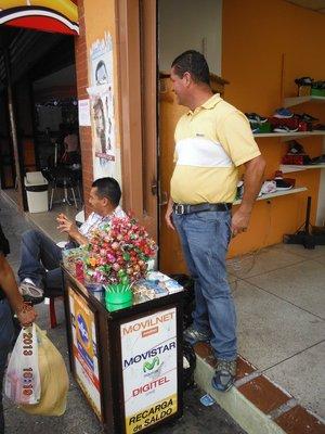 Straatventers in Mérida