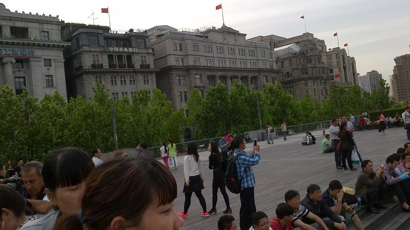Shanghai (Old City) Along the Bund (Huang Pu River)