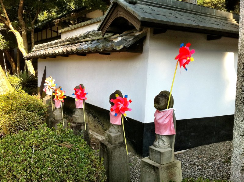 Cute Little Jizo Sporting Pinwheels