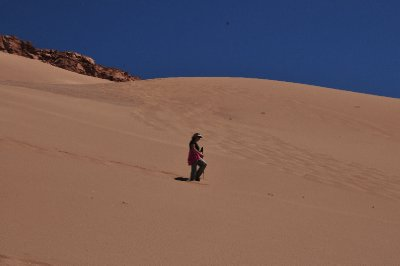 Hiking down the Sand Dunes