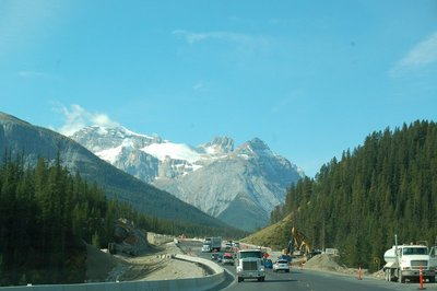 Trans Canada 1 north of Lake Louise