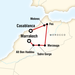 morocco tour route map