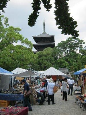Toji flea market