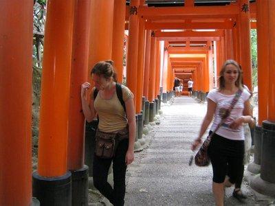 me in torii tunnel fushimi inari