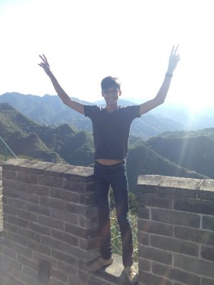 Up on the Great Wall of China