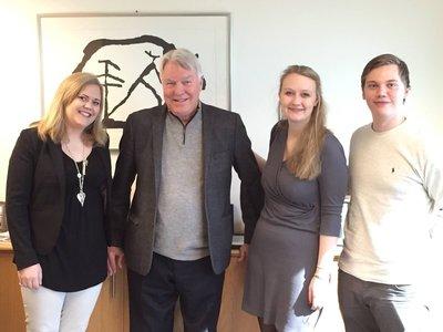 På besøk hos det norske konsulatet med Gary Gandrud