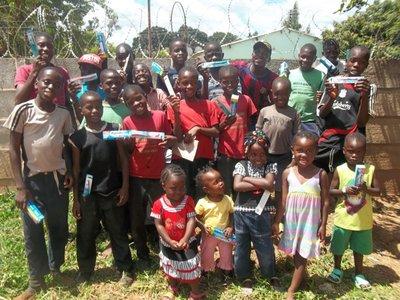 Gjorde inntrykk: Barn i Zimbabwe.