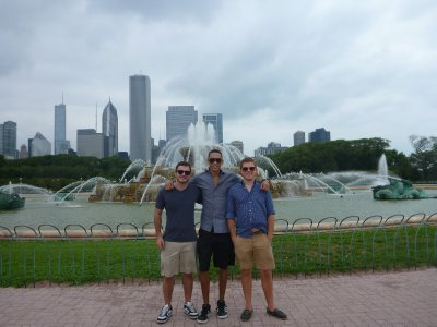 Lucas, Evan, and I- Chicago