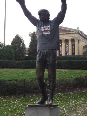 Rocky wins the Philadelphia Marathon 2012!