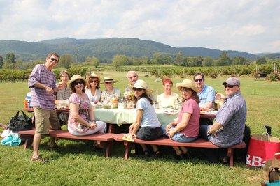 Picnic at Philip Carter Winery