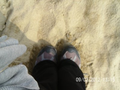 My feet at Yantai beach